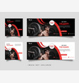 gym and fitness banner promotion template vector image