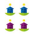 happyhouses2 vector image vector image