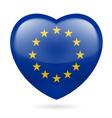 Heart icon of EU vector image