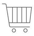 internet marketing thin line icon market vector image vector image