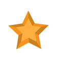 isolated golden star shape icon vector image vector image
