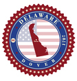 label sticker cards state delaware usa vector image