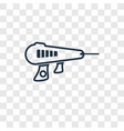 laser gun concept linear icon isolated on vector image