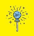 lollipop candy icon vector image vector image