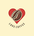 love coffee creative image design for coffe vector image
