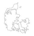 map denmark vector image vector image