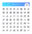 math line icons set vector image