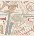 music background seamless texture with musical vector image vector image