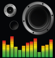 music background with speaker vector image vector image