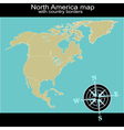 North America map with country borders vector image vector image