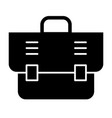 office bag solid icon briefcase vector image vector image