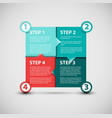 one two three four - paper progress steps vector image vector image