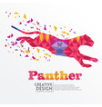 panther geometric paper craft style vector image