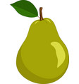 pear isolated on a white background vector image vector image