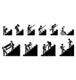 people going up on staircase or stairs cliparts vector image