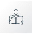 reading icon line symbol premium quality isolated vector image vector image