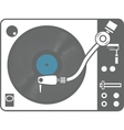 Record player vinyl record isolated vector image