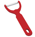 Red peeler vector image vector image