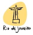 rio de janeiro brazil statue christ vector image vector image