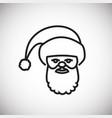 santa thin line on white background vector image