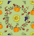 seamless pattern with thanksgiving decoration vector image vector image