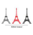 set eiffel tower vector image