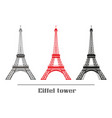 set of eiffel tower vector image vector image