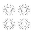 set vintage sunburst light rays firework vector image