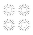 set vintage sunburst light rays firework vector image vector image