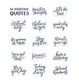 set with positive lettering slogans in modern vector image vector image