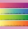 shenyang multiple color gradient skyline banner vector image vector image