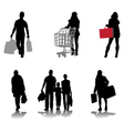 shopping 2 vector image vector image