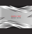 silver and black color abstract background with vector image vector image