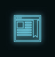 site network neon icon web development icon vector image
