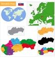 Slovakia map vector image vector image