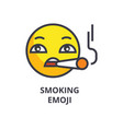 smoking emoji line icon sign vector image vector image