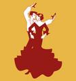 spanish couple flamenco dancers vector image
