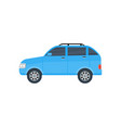 suv car isolated icon vector image
