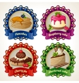 Sweets ribbon banners vector image vector image
