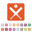 The baseball icon Sport symbol Flat vector image vector image