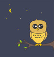 the owl in the tree at night vector image
