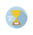 trophy cup in circle simple winner symbol icon vector image vector image