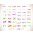 watercolor rainbow brushes design template vector image vector image