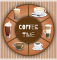 with coffee drinks hot drinks set vector image vector image