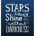Stars and darkness vector image