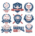 Baseball logo set vector image