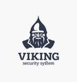 modern professional sign logo viking system vector image