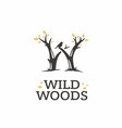 modern professional sign logo wild woods vector image