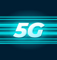5g speed new wireless internet wifi connection vector image vector image
