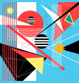 abstract multi-colored background geometric vector image vector image
